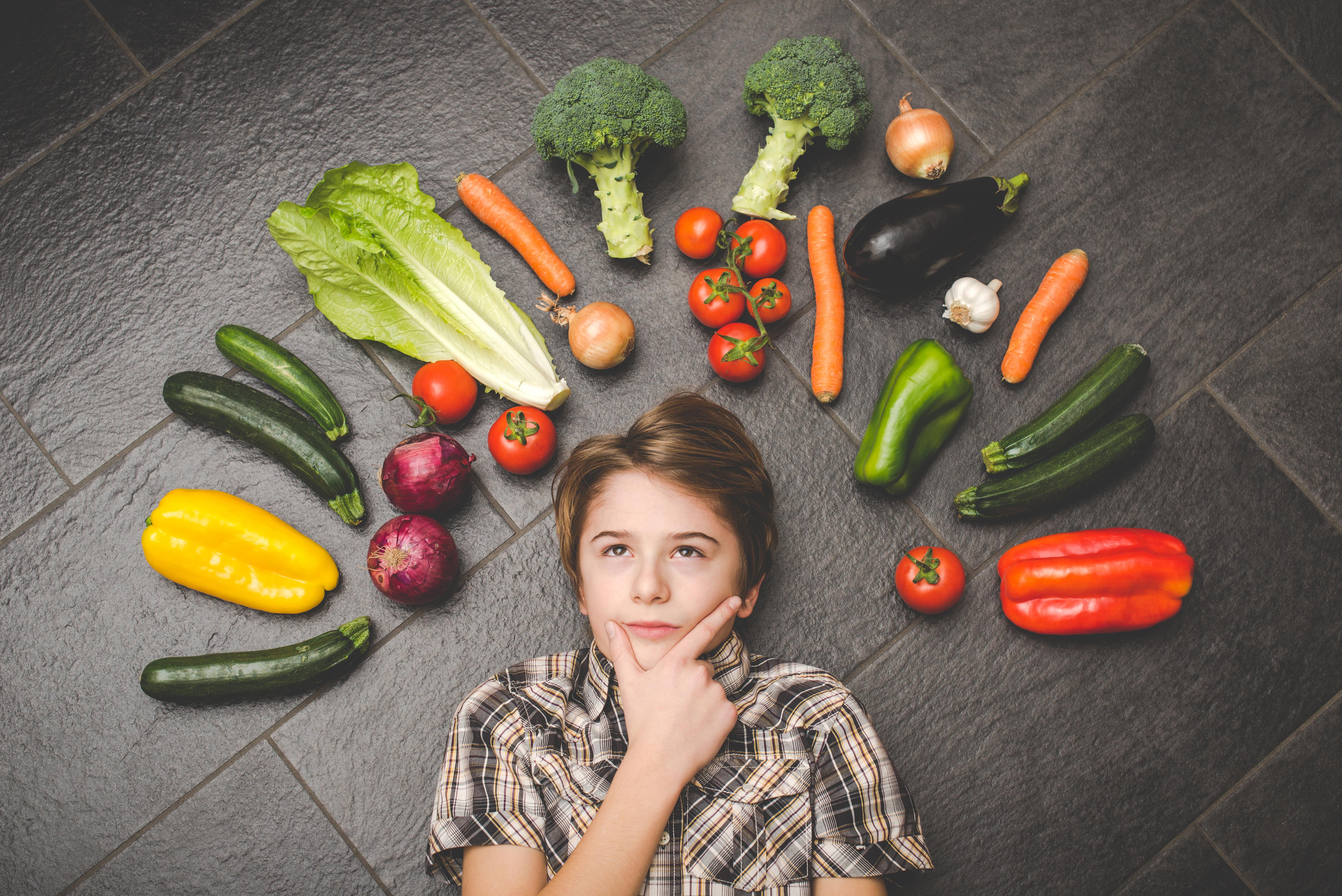 alimentación vegetariana en niños