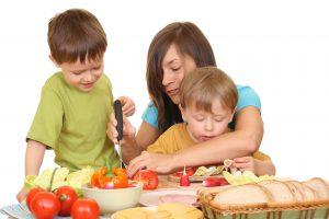 alimentación adecuada en niños